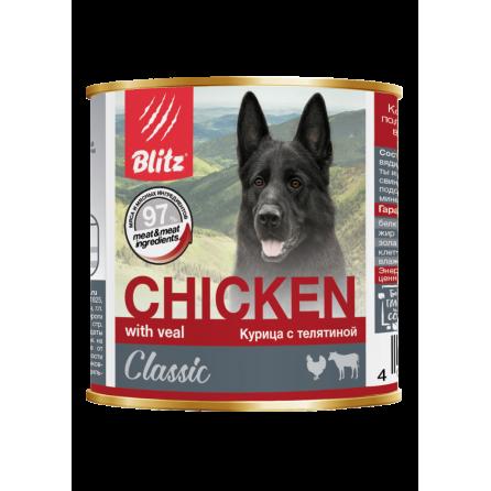 Влажный корм Blitz Курица с телятиной (750 гр)