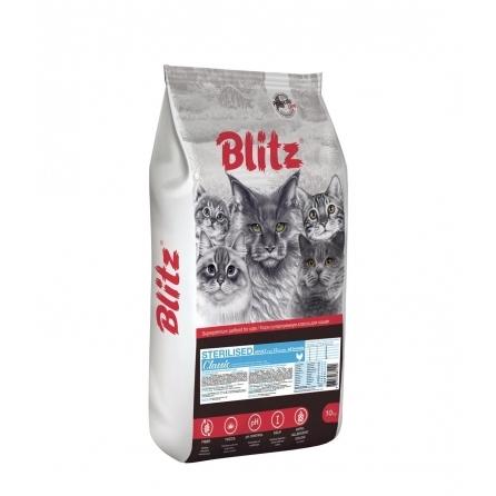 Blitz: сухой корм для стерилизованных кошек «Курица»
