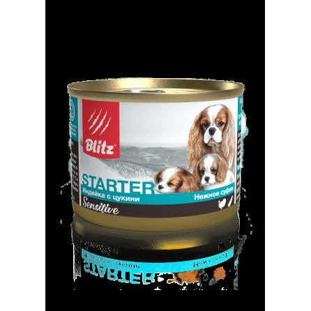 Blitz Sensitive «Индейка с цукини» консервированный корм-стартер для щенков, беременных и кормящих сук (200г)