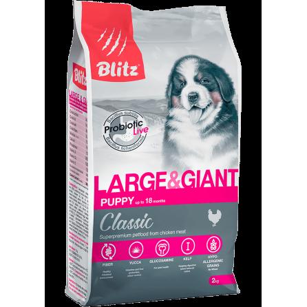 Сухой корм для щенков крупных и гигантских пород Blitz Classic Puppy Large & Giant
